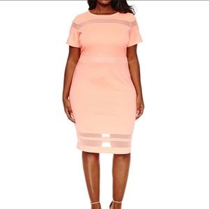 Boutique 9 Dresses - Coral Mesh Dress Sz 1x